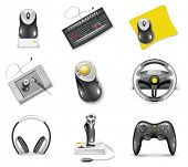 stock photo of peripherals  - Vector white computer icon set - JPG