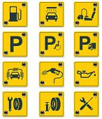 picture of vacuum pump  - Vector roadside services signs icon set - JPG