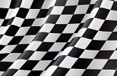 Checkered Flag, vector background poster