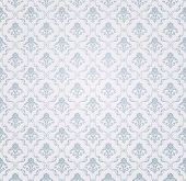 Blue Seamless wallpaper pattern, vector