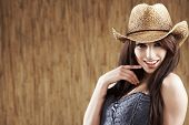 sexy woman with cowboy hat