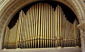 foto of pipe organ  - organ pipes from spreckles outdoor pipe organ - JPG