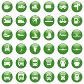stock photo of transportation icons  - Transportation set of different vector web icons - JPG