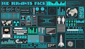 Interface In The Style Of A Cartoon Hud. Vector Illustration Of Ui, Infographic Elements, Dashboard, poster