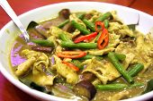 pic of curry chicken  - Thai green curry traditional spicy asian cuisine - JPG