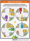 Map Skills Learning And Training Activity Page Or Worksheet: Yellow Taxi Car On Each Mini-map Is Mov poster