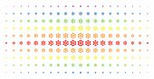 Boat Steering Wheel Icon Rainbow Colored Halftone Pattern. Vector Boat Steering Wheel Items Are Arra poster