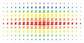 Script Roll Icon Spectrum Halftone Pattern. Vector Script Roll Objects Are Arranged Into Halftone Gr poster