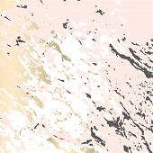 Abstract Marble Trendy Texture In Pastel And Gold Colors . Trendy Chic Background Made In Vector For poster