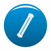 Medical Thermometer Icon. Simple Illustration Of Medical Thermometer Vector Icon For Any Design Blue poster