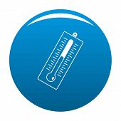 Big Thermometer Icon. Simple Illustration Of Big Thermometer Vector Icon For Any Design Blue poster