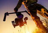 Digital Video Camera Gimbal Stabilization. Dslr Videography Equipment. poster