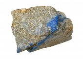 pic of lapis lazuli  - A splinter of lapis lazuli isolated on a white background - JPG