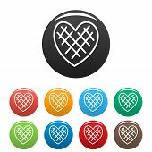 Impressionable Heart Icon. Simple Illustration Of Impressionable Heart Vector Icons Set Color Isolat poster