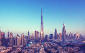 Dubai skyline, United Arab Emirates poster