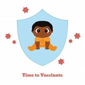 Baby Vaccination Concept For Immunity Health. Vector Illustration. poster