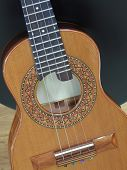 Close-up Of A Brazilian String Musical Instrument: Cavaquinho. This Instrument Is Widely Used To Acc poster