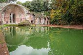 Ancient Pool Called Canopus In Villa Adriana (hadrians Villa), Tivoli, Italy poster