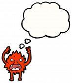 cartoon little furry creature cartoon poster