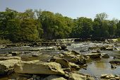 stock photo of swales  - A view of Richmond waterfall on the river Swale from near the rocks - JPG