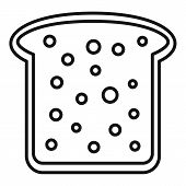 Toast Icon. Outline Toast Vector Icon For Web Design Isolated On White Background poster
