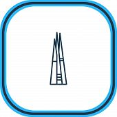 Vector Illustration Of The Shard Icon Line. Beautiful History Element Also Can Be Used As Metropolis poster