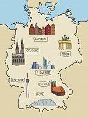 Germany landmarks poster