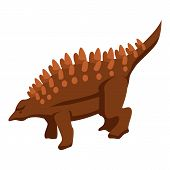 Nature Dinosaur Icon. Isometric Of Nature Dinosaur Vector Icon For Web Design Isolated On White Back poster