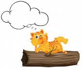 Illustration of a thinking tiger -