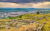 Ruins Of The Ancient Greek City Of Pergamon. Unesco World Heritage In Turkey poster