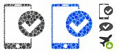 Phone Ok Composition Of Filled Circles In Different Sizes And Shades, Based On Phone Ok Icon. Vector poster