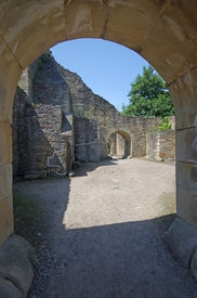 pic of suceava  - Medieval ruins of Suceava fortress in Moldavia - JPG