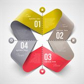 stock photo of stitches  - Abstract shape with infographics elements  - JPG