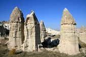 pic of phallus  - phallus form mountains as first christians houses in CappadociaTurkey  - JPG