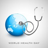 World health day concept with globe.