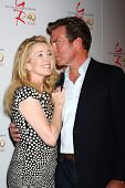 LOS ANGELES - MAR 26:  Melody Thomas Scott, Peter Bergman attends the 40th Anniversary of the Young