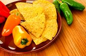 image of nachos  - Raw Mexican food - JPG