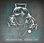 stock photo of florence nightingale  - International nurse day concept with illustration of a nurse - JPG