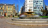 BILBAO, SPAIN - NOVEMBER 13: Moyua Square and Chavarri Palace on November 13, 2012 in Bilbao, Spain.