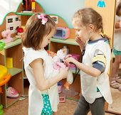 stock photo of nursery school child  - Child in kindergarten - JPG