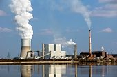 picture of thermos  - Ecological infection of thermo electric power station - JPG