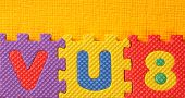 pic of kiddy  - Kiddies style Colored Alphabet and number blocks - JPG