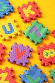 image of kiddy  - Kiddies style Colored Alphabet and number blocks - JPG