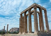 image of olympian  - The Temple of Olympian Zeus also known as the Olympieion or Columns of the Olympian Zeus is a colossal ruined temple in the centre of the Greek capital Athens that was dedicated to Zeus king of the Olympian gods - JPG