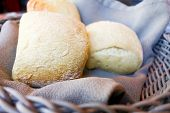 image of bread rolls  - bread in basket  - JPG