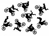 Постер, плакат: Мотокросс всадника прыжок