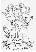 picture of truncheon  - contour drawing of little fairy created by me - JPG