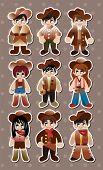 image of bucking bronco  - Cowboy Stickers - JPG
