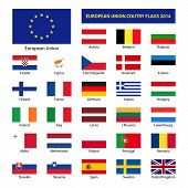 picture of sweden flag  - European Union country flags 2014 member states EU - JPG