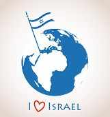 foto of flag pole  - I love Israel - JPG